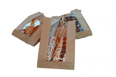 Natural Kraft Grs Res Window Bag